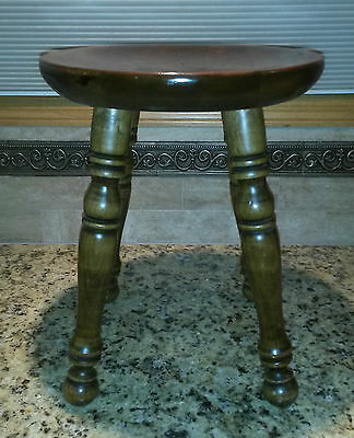 ETHAN ALLEN Antiqued Pine Old Tavern Stool American Traditional. NICE +