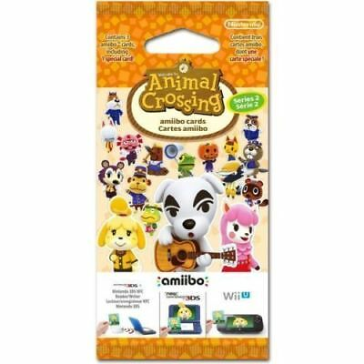 Amiibo Animal Crossing Cards Season Series 2 Booster Pack Brand New!