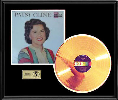 Patsy Cline Debut Rare Gold Record Disc Lp First Album Frame