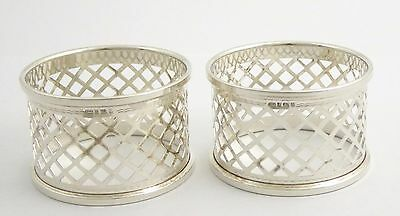 Pair of 1923 Art Deco Sterling Napkin Rings by Broadway & Co LAYBY