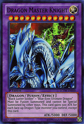 1x Dragon Master Knight - LCYW-EN050 - Super Rare - 1st Edition - Near Mint