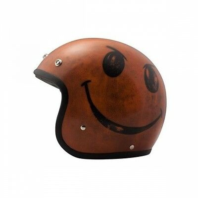 Casque moto Jet DMD Vintage Smile Orange
