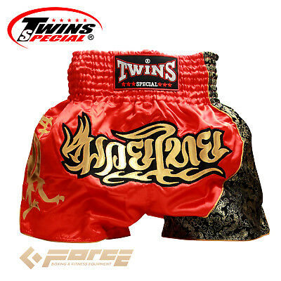 Boxing Shorts Pants Twins Special Muay Thai Kick Boxing MMA UFC Red T-151