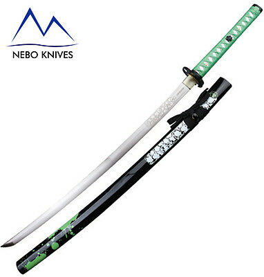 Z Hunter Samurai Sword Zombie Defence Handforged Green ZB059GN