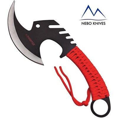 Z-Hunter Zombie Killer Red Axe Tomahawk Hunting with Sheath ZBAXE3R