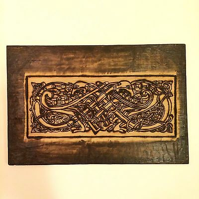Celtic Pyrography Book of Kells Inspired Woodburning