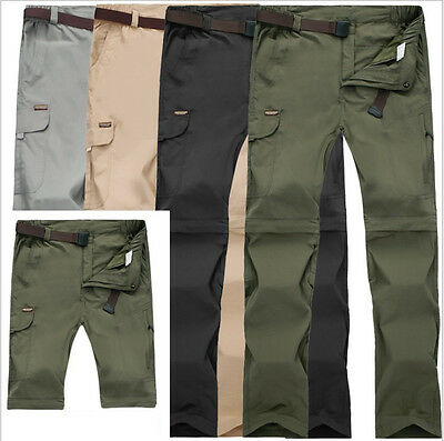 NEW Men Waterproof Breathable Hiking Quick-drying Removable Outdoor Pants 1088