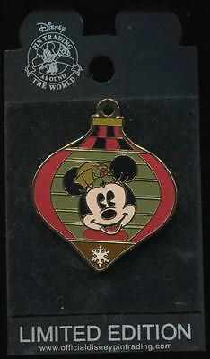 WDW Minnie Mouse Holiday Ornament Surprise LE Disney Pin 43308