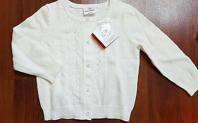 HANNA ANDERSSON Girls Ready To Go Cardigan - White  NWT
