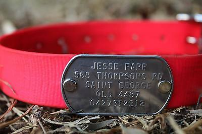 Custom Dog Tag with rivets