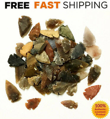50 PCs AGATE ARROWHEAD Crystal Stones AUTHENTIC Arrowheads Spearhead Bulk LARGE