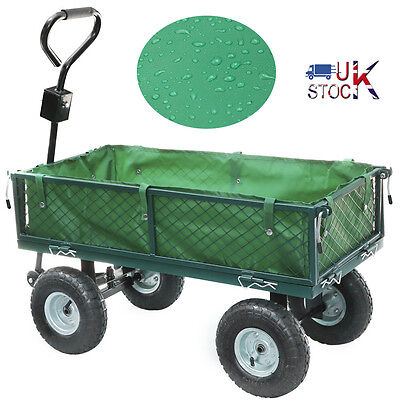 Panana Heavy Duty Metal Garden Wheelbarrow Garden Cart Barrow Trolley Wheels