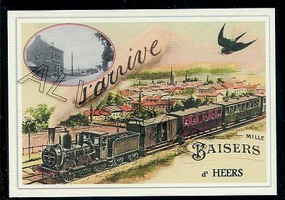 HEERS  -  .... TRAIN ...  souvenir creation moderne serie numerotee