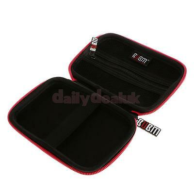 """Portable Red Media EVA Hard Carry Case Bag Zipper Pouch for 2.5"""" HDD GPS"""