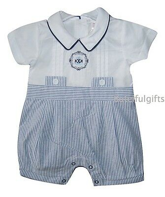 Baby Boys Traditional Cotton Striped Romper 0-3 Month