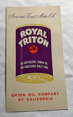 Union 76 Royal Triton Oil Advertising Booklet 1950's