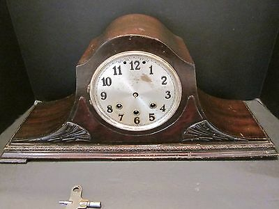 Old Vintage Mauthe Mantle Shelf Clock Westminster Chime Needs Repair As Is