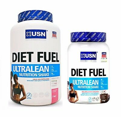 USN Diet Fuel Ultralean Meal Replacement Weight Loss Protein Slimming Shake