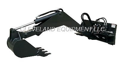 NEW SWING ARM BACKHOE ATTACHMENT Excavator Skid Steer Loader Tractor Bobcat Cat