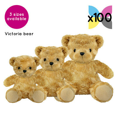 100 Victoria Teddy Bears Without Clothing Blank Plain Soft Toys Plush Gift Bulk