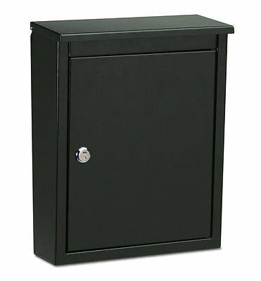 Architectural Mailboxes' 2580B-10 Chelsea Locking Wall Mount Mailbox (Black)