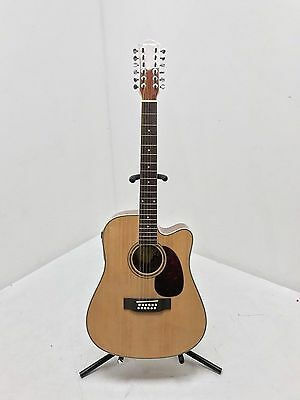 New Dreadnought 12 String Electro Acoustic Guitar