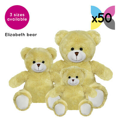 50 Elizabeth Teddy Bears Without Clothing Blank Plain Soft Toys Plush Gift Bulk