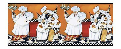 York Wallcoverings BG1680BD Chef's A-Cookin' Border