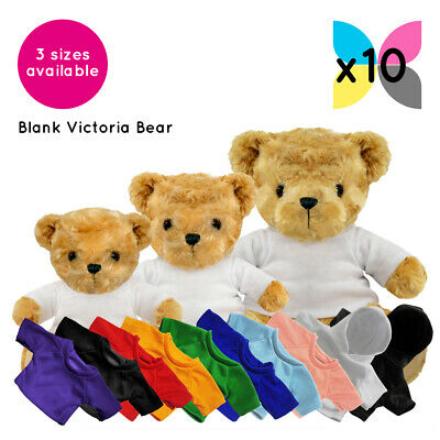 10 Blank Victoria Teddy Bears Soft Toys Plain T-Shirt Hoody Transfer Sublimation