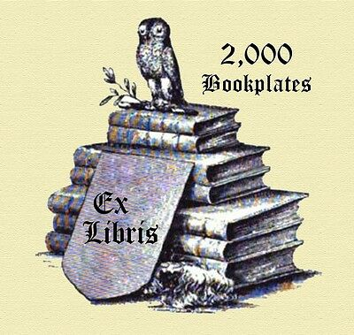 2,000 Bookplates Collection on CD, Royalty Free Vintage Images - Free Shipping