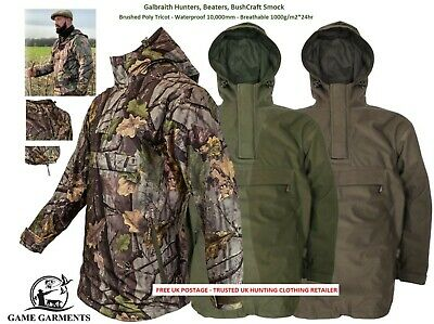Jack Pyke Galbraith Waterproof Hunting & Shooting Smock in Green, Brown or Camo