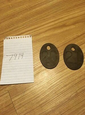 vintage brass cow tags Lot 7914