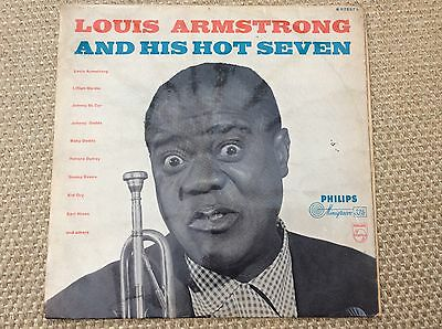 "Louis Armstrong & His Hot Seven. B07237L. 12"" LP."