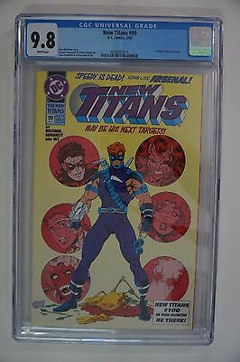 New Titans #99 CGC 9.8 (1993) DC Arrow TV Show 1st Appearance Roy Harper Arsenal