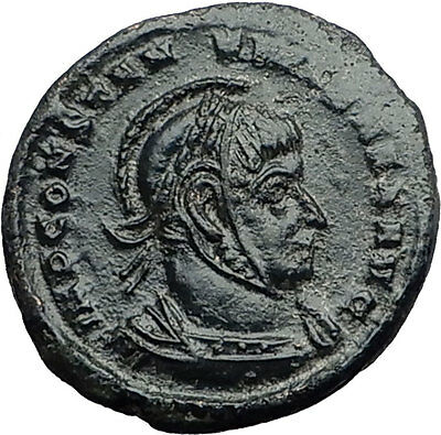 Constantine I The Great 318D Trier Authentic Ancient Roman Coin Victories i60023