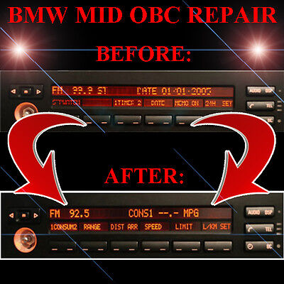 BMW E53 X5 RADIO STEREO DISPLAY MID OBC - LCD Screen Display Pixel REPAIR