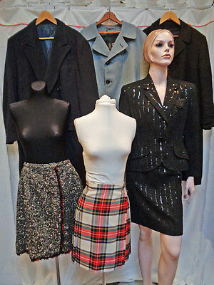 VINTAGE WINTER CLOTHING LOT - MENS & WOMENS - CASHMERE COAT  LILLIE RUBIN & more