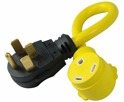 Conntek 14315 50-Amp Male to 30-Amp Female RV Power Pigtail Adapter, 1.5-Feet