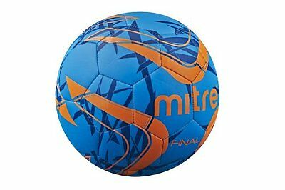 Mitre Final Soccer Ball, Blue/Orange, Size 5