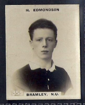 Pinnace Football-Black Oval Back-#0359- Rugby - Bramley. N.u. - H. Edmondson