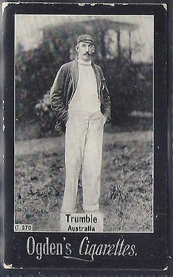 Ogdens Tabs-Series C Cricket Card-#c270- Australia - Trumble