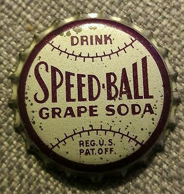 SPEEDBALL GRAPE soda bottle cap unused cork