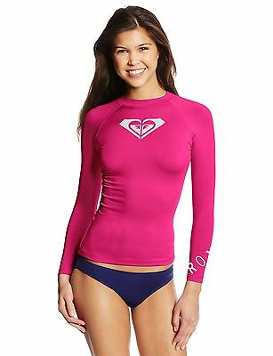 Roxy Junior's Whole Hearted Long Sleeve Rash Guard, Pink, 16