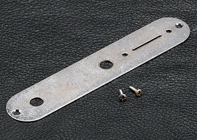 Gotoh Telecaster Tele Style Guitar Control Plate • Chrome • Aged / Relic