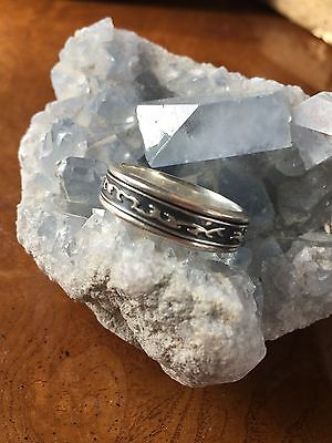 Sterling Silver Spinner Ring ...size 15