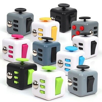 11 Colors Dice Magic Fidget Cube Anti-anxiety Stress Relief Adults Children Toy