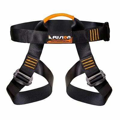 Fusion Climb Centaur Half Body Harness Black M-XL for Climbing Gym & Rope Course