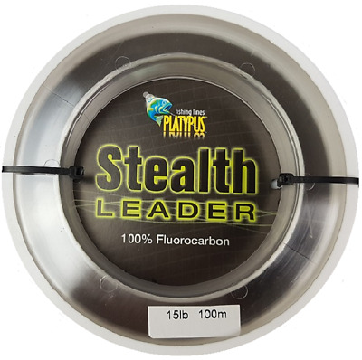 New Platypus Stealth Leader    - 15lb (100m) Flurocarbon Fishing