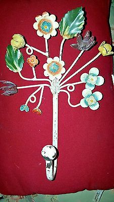 Vintage ~ Metal Hook ~ Multiple Flowers