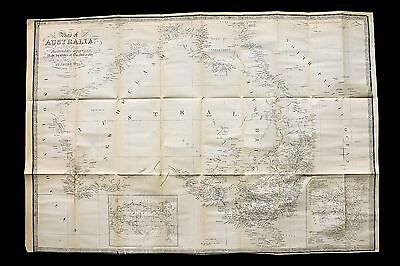 James Wyld Australia Map Van Diemens Land Victoria Melbourne New Holland RARE